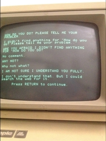 Pic #2 - This is what happens when Siri has a conversation with a more primitive AI program running on a -year-old Apple II