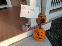 Pic #2 - Trick-or-Treaters Got To Make A Choice At My House Last Year