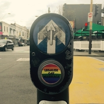 Pic #2 - Workmate put these stickers on crossing buttons around Melbourne