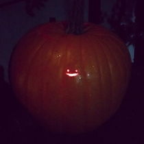 Pic #3 - Before the inevitable onslaught of posts containing extremely intricate and beautiful looking pumpkins begin I wanted to share a humble Jack-o-lantern design