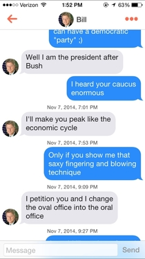 Pic #3 - Bill Clinton on Tinder