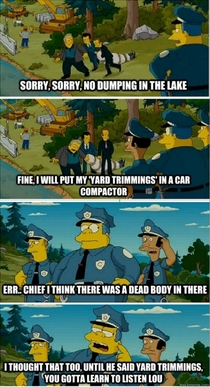 Pic #3 - Chief Wiggum at his stupide I mean finest yes finest