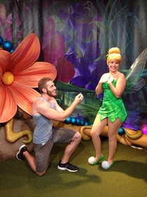 Pic #3 - Guy proposes to various Disney characters at Disney World
