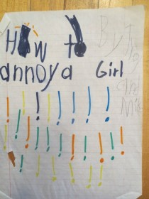 Pic #3 - How To Annoy A Girl- A short story my brother and I wrote when we were kids