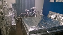 Pic #3 - I foiled my twins bedroom while he was on vacation