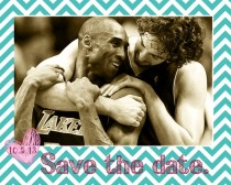 Pic #3 - I noticed that a lot of photos of Kobe Bryant and Pau Gasol look like engagement photos so I made these