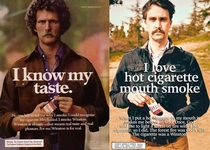 Pic #3 - I remade some old cigarette ads posed as the model and rewrote the copy