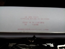 Pic #3 - I was going to purchase this typewriter at the antiques market until I noticed it was not up to date