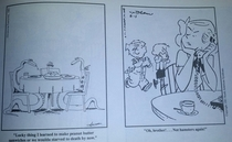Pic #3 - In the s a newspaper mixed up the captions for Dennis the Menace and The Far Side twice The results were hilarious