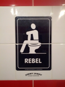 Pic #3 - Jimmy Johns asks which type of restroom user you are