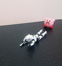 Pic #3 - Kirby swallows a Stormtrooper