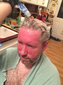 Pic #3 - My brother and dad made a bet dad lost had had to dye his hair