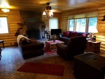 Pic #3 - My father-in-law took pictures of the cabin the whole family stayed at this weekend Their dog is in every one of these pictures