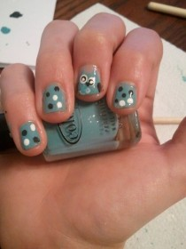 Pic #3 - My hilarious attempt at YouTuber cutepolishs owl nails