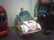 Pic #3 - Over the past few years I have been cramming myself into small childrens rides at the mall