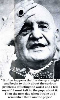 Pic #3 - Pope John XXIII is going to formally become a saint on Sunday  April  Here is a sample of his humorous quips