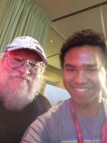 Pic #3 - Ran into George RR Martin at comic-con he really gets into his characters