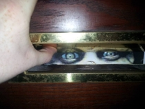 Pic #3 - Some kids have been peering through my letterbox recently It was creeping me out I decided to up the creepy ante