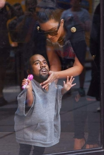 Pic #3 - Someone photoshopped Kanye Wests head onto his daughters body