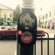 Pic #3 - Workmate put these stickers on crossing buttons around Melbourne