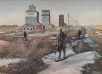 Pic #4 - Artist takes thrift store paintings and adds his personal touch