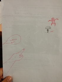 Pic #4 - As an th to th grade science teacher I noticed my students would draw a lot on their papers Anytime I came across a drawing I added something to it