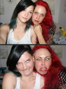 Pic #4 -  beautiful women making ugly faces