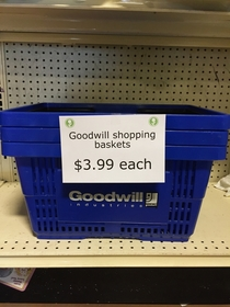 Pic #4 - Did you know you can donate anything to Goodwill if you just walk in and put it on the shelves