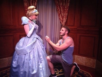 Pic #4 - Guy proposes to various Disney characters at Disney World