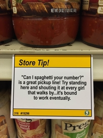 Pic #4 - I added some shopping tips to a nearby grocery store