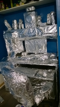 Pic #4 - I foiled my twins bedroom while he was on vacation