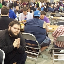 Pic #4 - I participated in one of the biggest Magic the Gathering tournaments of all time this weekend In an effort to document it I posed for pictures near people with exposed asscracks I present to you Grand Prix Richmond Crackstyle