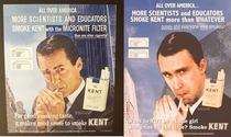 Pic #4 - I remade some old cigarette ads posed as the model and rewrote the copy