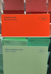 Pic #4 - I renamed some of the paint colors at the hardware store