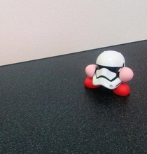 Pic #4 - Kirby swallows a Stormtrooper