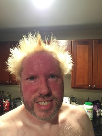 Pic #4 - My brother and dad made a bet dad lost had had to dye his hair