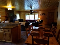 Pic #4 - My father-in-law took pictures of the cabin the whole family stayed at this weekend Their dog is in every one of these pictures
