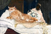 Pic #4 - Russian Artist Inserts Her Fat Cat Into Iconic Painting