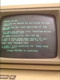 Pic #4 - This is what happens when Siri has a conversation with a more primitive AI program running on a -year-old Apple II
