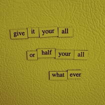 Pic #4 - You guys REALLY seemed to enjoy my Depressing Fridge Poems here are even more