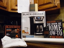 Pic #4 - You might remember my post last week in which I shared my morning coffee struggle after my brewer had died Well uBLACK-AND-DECKER saw it too and hooked me up with a sweetass care package Take a look