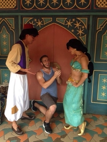 Pic #5 - Guy proposes to various Disney characters at Disney World