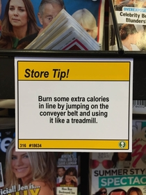 Pic #5 - I added some shopping tips to a nearby grocery store