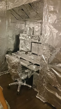 Pic #5 - I foiled my twins bedroom while he was on vacation