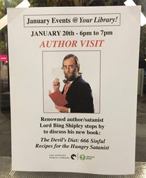 Pic #5 - I made up some fake events for my local library