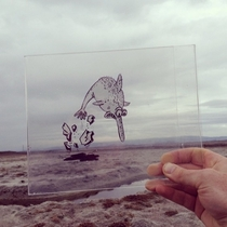 Pic #5 - Illustrator Doodles Cartoons on Transparency Film and Places Them in Real World Scenes