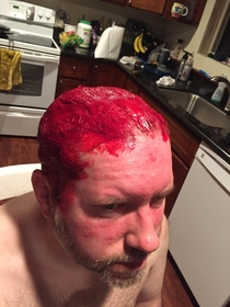 Pic #5 - My brother and dad made a bet dad lost had had to dye his hair