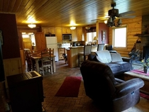 Pic #5 - My father-in-law took pictures of the cabin the whole family stayed at this weekend Their dog is in every one of these pictures