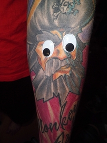 Pic #5 - My -year old niece decided to put googly eyes on my tattoos