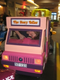 Pic #5 - Over the past few years I have been cramming myself into small childrens rides at the mall